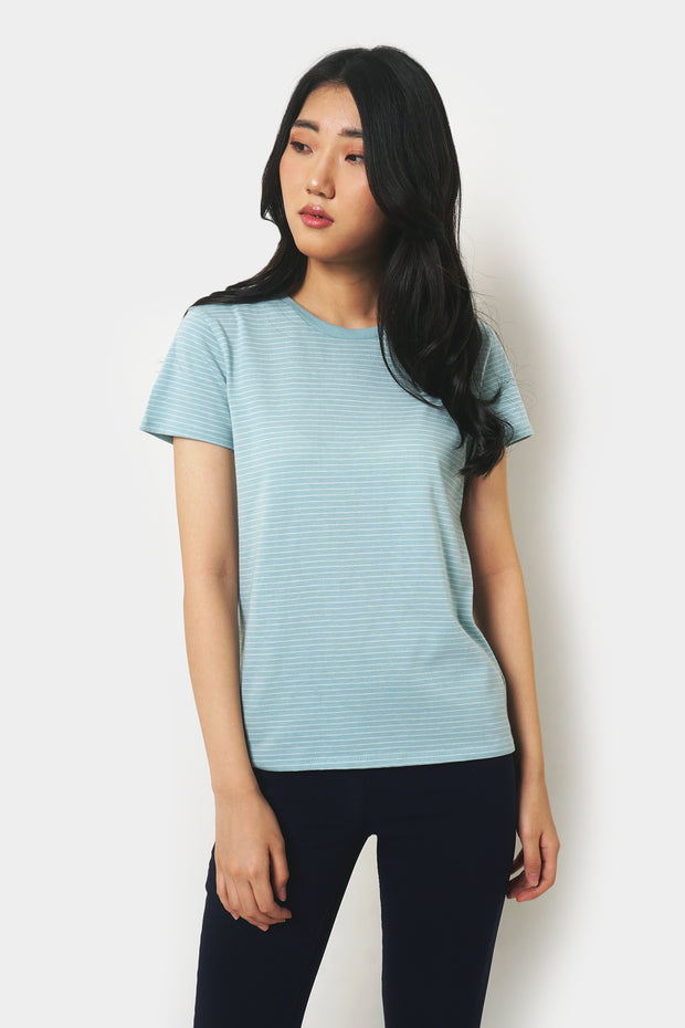 The Dress Code Striped Round Neck Tee