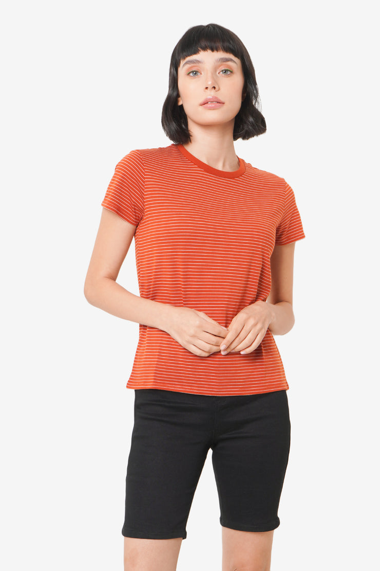 The Dress Code Striped Crew Neck Tee