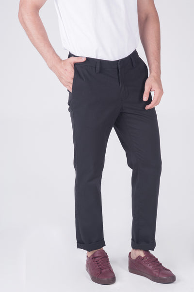 Relaxed Fit Chinos With Welt Pocket