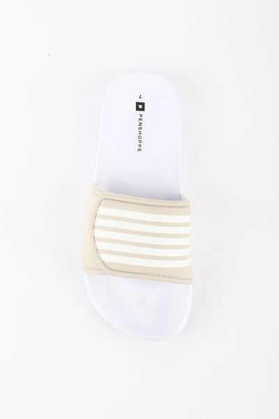 Synthetic Leather Sliders With Velcro