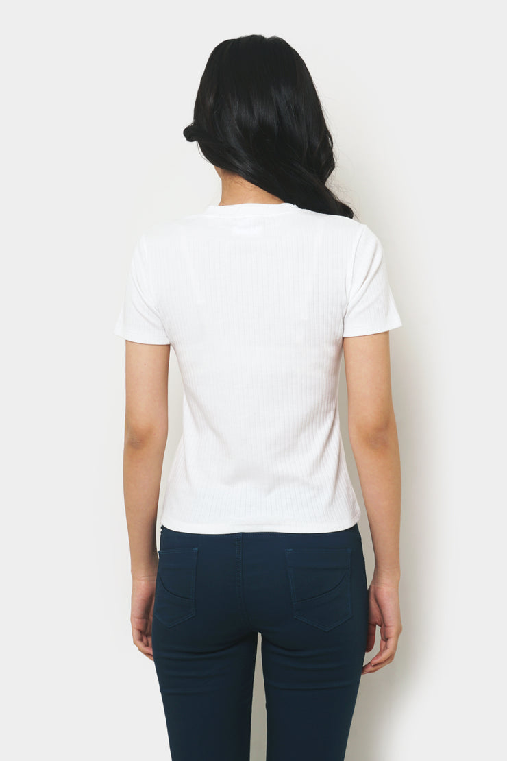 Basic Ribbed Tee