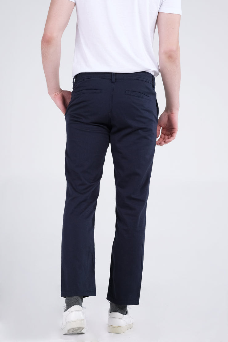Relaxed Fit Chinos With Welt Pocket/s