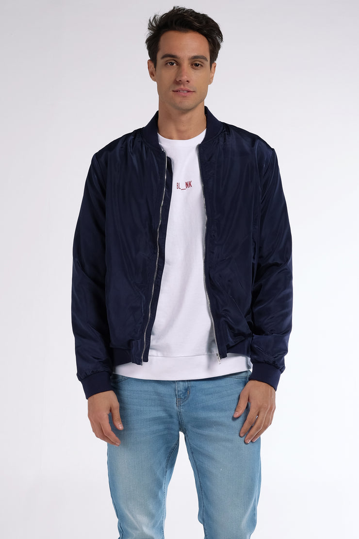 Bomber Jacket With Cut And Sew Panel