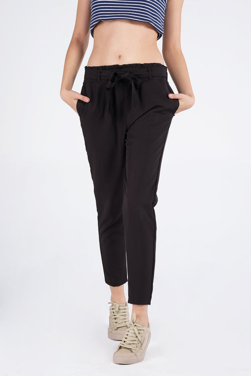 The Dress Code Paper Bag Trousers With Belt