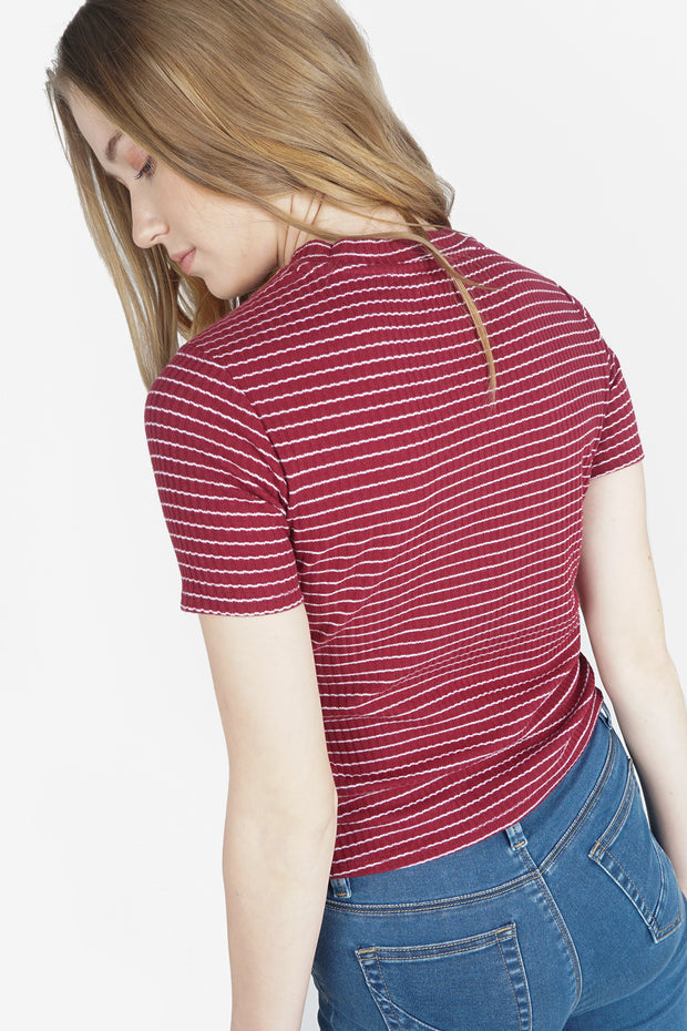 The Dress Code Striped Ribbed Tee