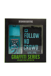 Graffiti Spin for Men Bag Tag Gift Set