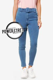 Power Stretch® High Waist Jeans with Belt