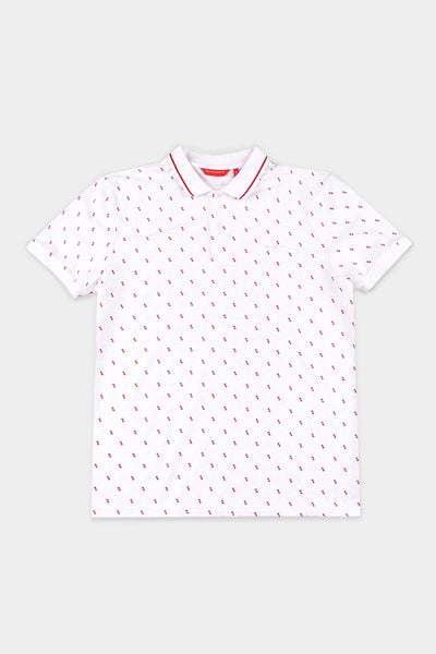 Men's All Over Print Relaxed Polo
