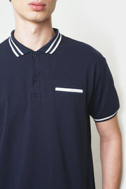 Polo with Collar Tipping