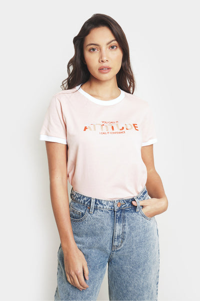 Attitude Ringer Relaxed Tee