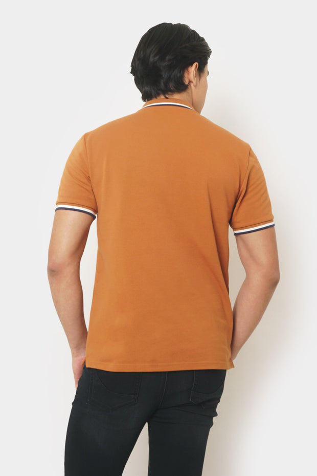Scribble Relaxed Polo with Collar Tipping