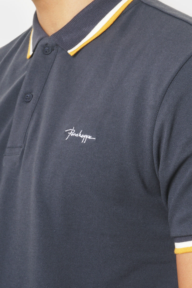 Scribble Polo with Collar Tipping