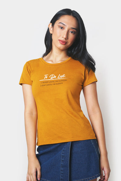 To Do List Semi-fit Tee