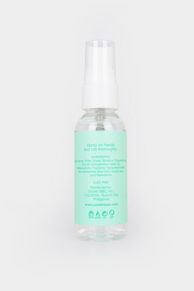 75% Alcohol Hand Sanitizer Spray Cool Green 50ml