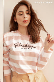 Long Sleeve Loose Fit Tee with PENSHOPPE Print
