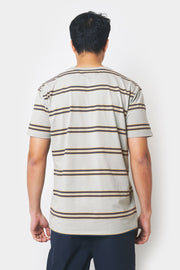 Striped Tee with P Embroidery
