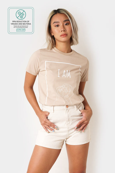 Graphic Tee with Anti-Viral Treatment