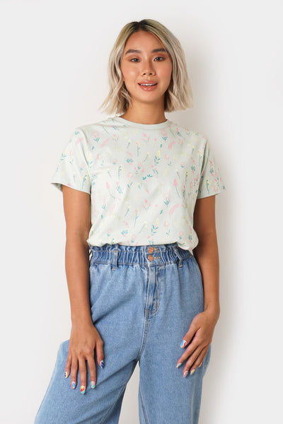 Relaxed Fit Tee with All Over Print