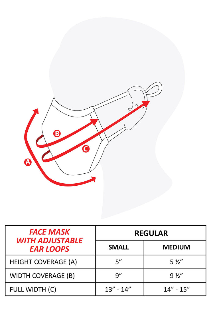 Face Mask with Adjustable Earloop
