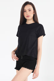 Boxy Tee With Pocket