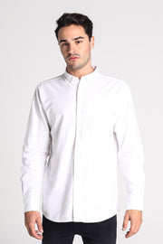 Oxford Button-Down Long Sleeves Shirt With Pocket