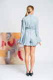 Lavender Linen Romper - Blue - Alpha-Be The Label