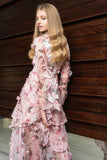 Floressa 3D Maxi Dress - Floral Pink - Alpha-Be The Label