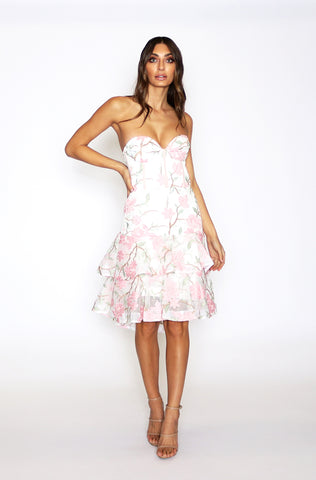 Addison Strapless Dress - White