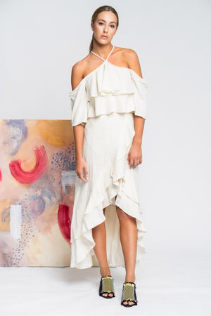 Hearts Wide Open Maxi Dress in White - Alpha-Be The Label