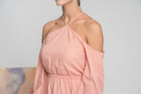 Hearts Wide Open Mini Dress - Pink - Alpha-Be The Label
