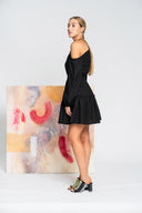 Hearts Wide Open Mini Dress in Black - Alpha-Be The Label