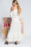 Hearts Wide Open Maxi Linen Dress - White - Alpha-Be The Label
