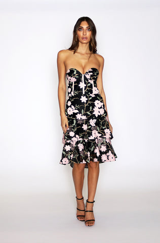 Addison Strapless Dress - Black