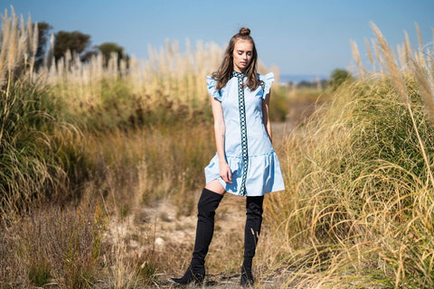 Meadow Cotton Shirt Dress - Alpha-Be The Label