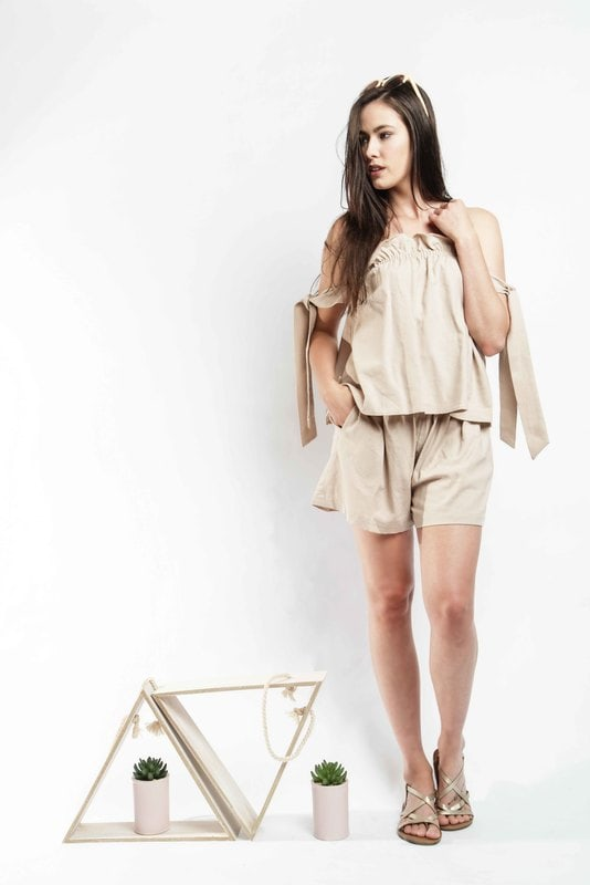 Sahara Top - Beige - Alpha-Be The Label