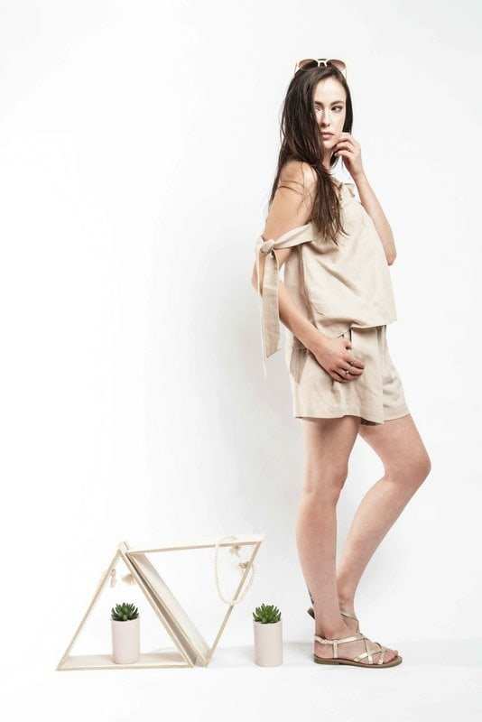 Sahara Shorts - Beige - Alpha-Be The Label