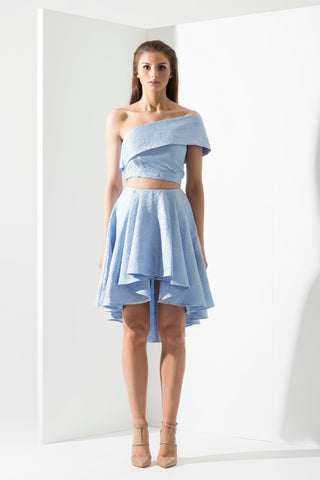 Ava Blue Skirt - Alpha-Be The Label