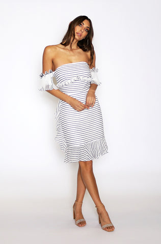 Payton Cup Sleeved Midi Dress