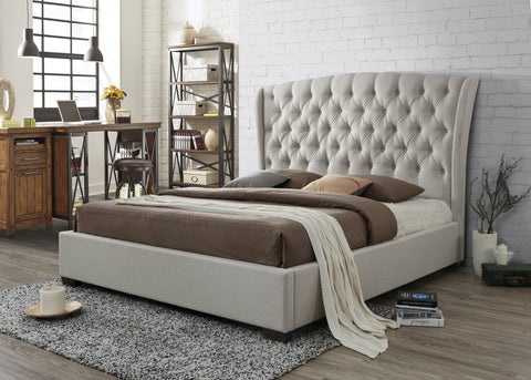 helmii Windsor king bed 180cm Off White
