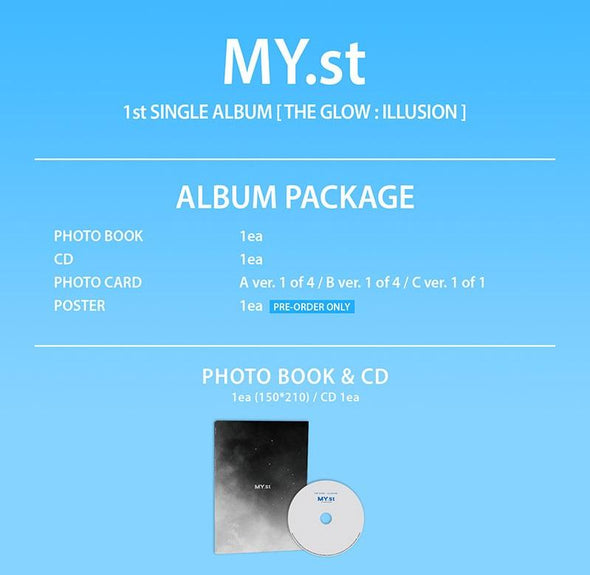 Apple Music [PRE-ORDER] MY.ST - 1ST SINGLE ALBUM [THE GLOW : ILLUSION]