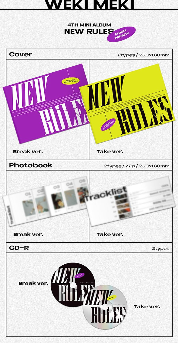 Apple Music [PRE-ORDER] WEKI MEKI - 4TH MINI ALBUM [NEW RULES]