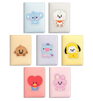 COKODIVE ALL Characters BT21 X MONOPOLY BABY LEATHER PATCH CARD CASE