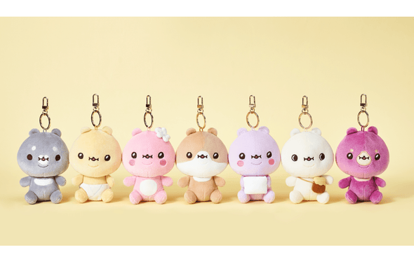 COKODIVE ALL Characters TWOTUCKGOM X MOSTA X SITTING DOLL KEYRING