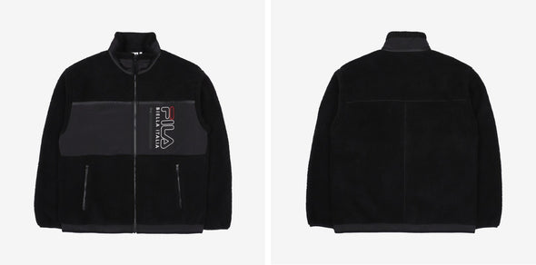 COKODIVE BLACK / 85 BTS X FILA POPCORN BOA FLEECE JACKET