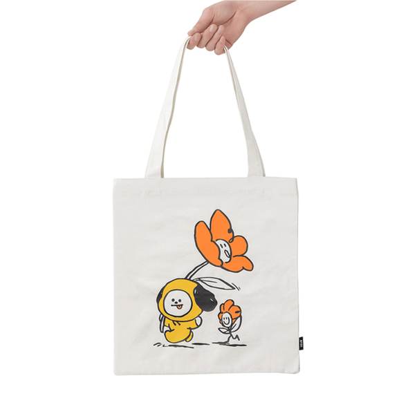 COKODIVE BT21 CHIMMY FLOWER ECO BAG