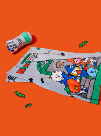 COKODIVE BT21 HALLOWEEN BLANKET