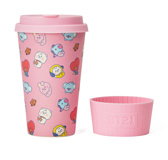 COKODIVE BT21 PINK REUSABLE CUP