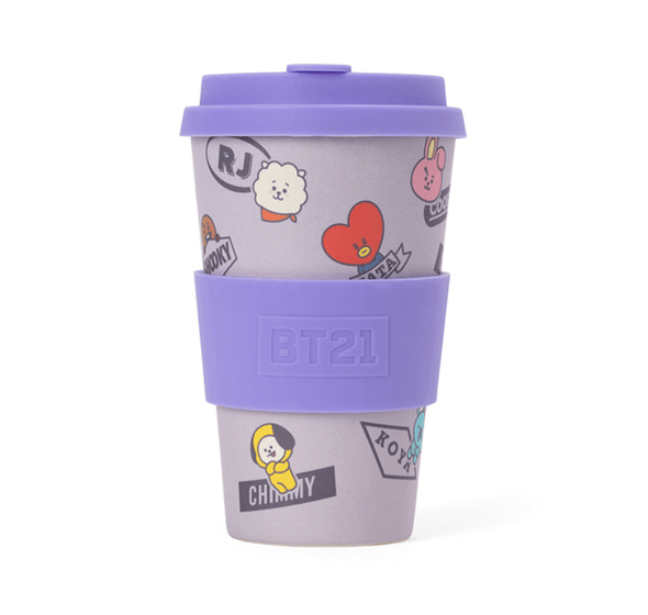 COKODIVE BT21 PURPLE REUSABLE CUP