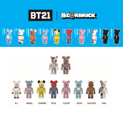 COKODIVE BT21 X BEARBRICK FIGURE