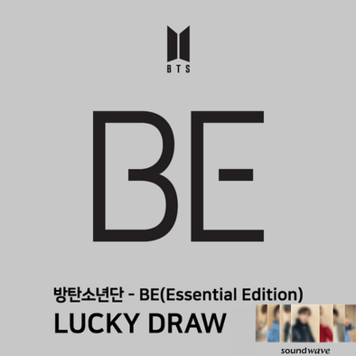 COKODIVE BTS BE (Essential Edition) LUCKY DRAW + SOUNDWAVE RANDOM PHOTOCARD